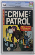 "Golden Age (1938-1955):Crime, Crime Patrol #13 Davis Crippen (""D"" Copy) pedigree (EC, 1949) CGC FN/VF 7.0 Cream to off-white pages. Johnny Craig cover. Cr..."