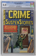 """Golden Age (1938-1955):Crime, Crime SuspenStories #8 Davis Crippen (""""D"""" Copy) pedigree (EC, 1951) CGC VF 8.0 Off-white to white pages. Old Witch appearanc..."""
