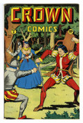 Golden Age (1938-1955):Adventure, Crown Comics #8 (Golfing, Inc., 1947) Condition: VF+. Voodah appearance. Matt Baker art. Overstreet 2006 VF 8.0 value = $138...