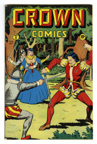 Crown Comics #8 (Golfing, Inc., 1947) Condition: VF+. Voodah appearance. Matt Baker art. Overstreet 2006 VF 8.0 value =...