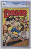 "Golden Age (1938-1955):Adventure, Dagar, Desert Hawk #16 Davis Crippen (""D"" Copy) pedigree (FoxFeatures Syndicate, 1948) CGC VF 8.0 Off-white pages. Hypoderm..."