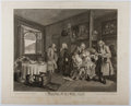 Books:Prints & Leaves, William Hogarth. Engraved Print Entitled, MarriageA-la-Mode, Plate VI. 1745. Approx. 17.25 x 21.5 inches.Minor...