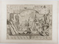 Books:Prints & Leaves, William Hogarth. Engraved Print Entitled, Analysis ofBeauty, Plate I. 1753. Approx. 15 x 19.5 inches. Mounted t...