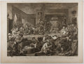 Books:Prints & Leaves, William Hogarth. Engraved Print Entitled, An ElectionEntertainment, Plate I. 1755. Approx. 18.5 x 24.75 inches....