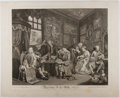 Books:Prints & Leaves, William Hogarth. Engraved Print Entitled, Marriage A-la-Mode,Plate I. 1745. Approx. 17.5 x 21.5 inches. Minor r...