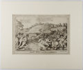 Books:Prints & Leaves, [Political Cartoon]. William Charles. Engraved Print EntitledJohn Bull and the Baltimoreans. ca. 1814. Approx. 9.75...