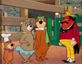 Animation Art:Limited Edition Cel, Yogi Bear, Boo Boo, and Cindy Bear Cel Set-Up with Original Background Animation Art (Hanna-Barbera, undated)....