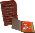 Memorabilia:Comic-Related, Anders And & Co. Danish Donald Duck Bound Volumes Box Lot (Egmont, 1957-60) Condition: Average GD....
