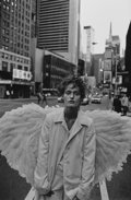 Photographs:20th Century, PETER LINDBERGH (German, b. 1944). Amber Valetta, Harper'sBazaar, Times Square, New York, 1993. Gelatin silver,printed...