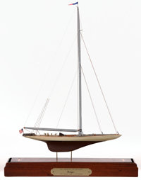 THREE AMERICA'S CUP SCALE YACHT MODELS American Marine and Ship Model Gallery, Salem MA The 'Shamrock V' and t