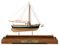 Paintings, SCALE MODEL OF YACHT 'BODICEA' AND TUG 'CHESSIE'. The British cutter yacht 'Bodicea' by Bobb Tomsett, offered together with ... (Total: 2 Items)