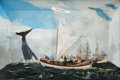 Maritime:Decorative Art, 'SETTING SAIL' SHADOWBOX DIORAMA. A dynamic representation ofhigh-seas adventure. This diorama by Rex Stewart is staged in ...