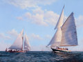 Maritime:Paintings, DIMETRIOUS ATHAS (American, 20/21st century). Starboard Quarter,Wall Earned. Oil on canvas. 18 x 24 inches (45.7 x 61.0...
