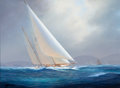 Maritime:Paintings, TIMOTHY H. THOMPSON (American, b. 1951). 'Sumurun'. Oil oncanvas. 12 x 16 inches (30.5 x 40.6 cm). THE MBNA COLLECTIO...