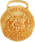 Golf Collectibles:Miscellaneous, 1919 Jim Barnes Western Open Championship Gold Medal....