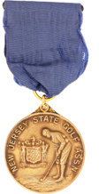 Golf Collectibles:Miscellaneous, 1939 Jim Barnes New Jersey Open Championship Gold Medal....