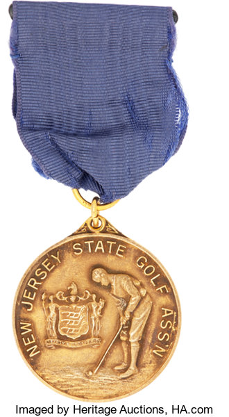 1939 Jim Barnes New Jersey Open Championship Gold Medal Golf Lot 81301 Heritage Auctions