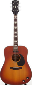 Musical Instruments:Acoustic Guitars, 1970 Gibson J-160E Sunburst Acoustic Electric Guitar, Serial #A001675....