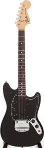 Musical Instruments:Electric Guitars, 1976 Fender Mustang Black Solid Body Electric Guitar, Serial # 7616322....