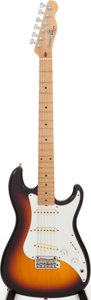 Musical Instruments:Electric Guitars, 1986 Fender Squire Bullet Sunburst Solid Body Electric Guitar,Serial # E614458. ...