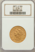 Liberty Eagles: , 1871-S $10 Fine 12 NGC. NGC Census: (2/92). PCGS Population (2/58).Mintage: 16,500. Numismedia Wsl. Price for problem free...