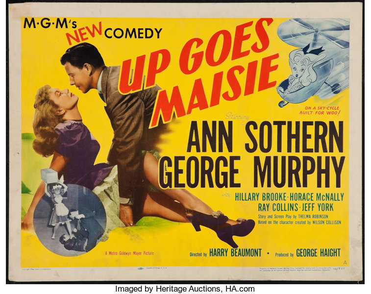 """Up Goes Maisie (MGM, 1946). Half Sheet (22"""" X 28"""") Style A. 