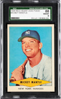 Baseball Cards:Singles (1950-1959), 1954 Red Heart Mickey Mantle SGC 88 NM/MT 8....