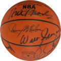 Basketball Collectibles:Balls, 1970 New York Knicks Team Signed Leather NBA Basketball - WorldChampionship Season, Steiner Authenticated. ...