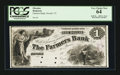 Obsoletes By State:Vermont, Orwell, VT- The Farmers Bank $1 UNL Proof. ...