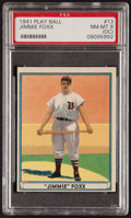 Baseball Cards:Singles (1940-1949), 1941 Play Ball Jimmie Foxx #13 PSA NM-MT 8 (OC)....