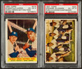 Baseball Cards:Lots, 1957 & 1958 Topps Multi-Player Card Pair (2). ...