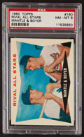 Baseball Cards:Singles (1960-1969), 1960 Topps Rival All Stars Mantle/Boyer #160 PSA NM-MT 8....