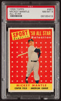 Baseball Cards:Singles (1950-1959), 1958 Topps Mickey Mantle AS #487 PSA NM-MT 8....