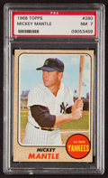 Baseball Cards:Singles (1960-1969), 1968 Topps Mickey Mantle #280 PSA NM 7....
