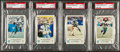 Football Cards:Singles (1970-Now), 1979 Dallas Cowboys Police PSA Gem Mint 10 Quartet (4) With Staubach. ...