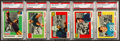 Football Cards:Singles (1950-1959), 1955 Topps All-American PSA Mint 9 (OC) Group of (5). ...