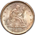 Twenty Cent Pieces, 1875-S 20C MS65 PCGS. CAC....