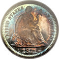 Proof Seated Half Dimes, 1871 H10C PR66 Cameo PCGS. CAC....