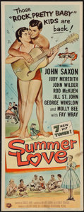 """Movie Posters:Rock and Roll, Summer Love & Other Lot (Universal International, 1958).Inserts (2) (14"""" X 36""""). Rock and Roll.. ... (Total: 2 Items)"""