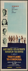 "Movie Posters:War, They Came to Cordura (Columbia, 1959). Insert (14"" X 36""). War....."