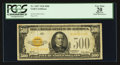 Small Size:Gold Certificates, Fr. 2407 $500 1928 Gold Certificate. PCGS Apparent Very Fine 20.. ...
