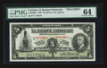 Canadian Currency: , Quebec City, PQ- La Banque Nationale $5 Nov. 2, 1922 Ch #510-22-02s Specimen. ...