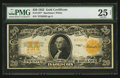 Large Size:Gold Certificates, Fr. 1187* $20 1922 Gold Certificate PMG Very Fine 25 Net.. ...