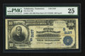 National Bank Notes:Tennessee, Tullahoma, TN - $10 1902 Plain Back Fr. 624 The First NB Ch. #(S)3107. ...