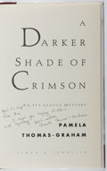 Books:Mystery & Detective Fiction, Pamela Thomas-Graham. INSCRIBED. A Darker Shade of Crimson.Simon & Schuster, 1998. First edition, first printing. ...