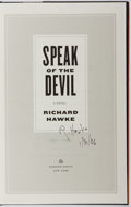 Books:Mystery & Detective Fiction, Richard Hawke. SIGNED. Speak of the Devil. Random House,2006. First edition, first printing. Signed by the author...