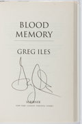 Books:Mystery & Detective Fiction, Greg Iles. SIGNED. Blood Memory. Scribner, 2005. Firstedition, first printing. Signed by the author. Mild rubbi...