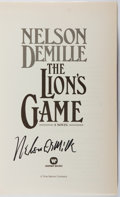 Books:Mystery & Detective Fiction, Nelson DeMille. SIGNED. The Lion's Game. Warner, 2000. Firstedition, first printing. Signed by the author. Soft...