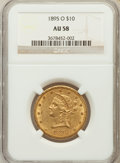Liberty Eagles: , 1895-O $10 AU58 NGC. NGC Census: (220/368). PCGS Population(92/247). Mintage: 98,000. Numismedia Wsl. Price for problem fr...
