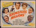 """Movie Posters:Comedy, Brewster's Millions (United Artists, 1945). Half Sheet (22"""" X 28""""). Comedy.. ..."""